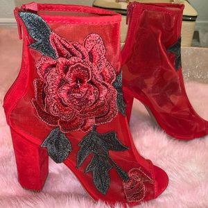 Rosette  Blush Heels